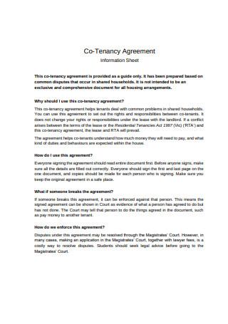 Co Tenancy Agreement Format