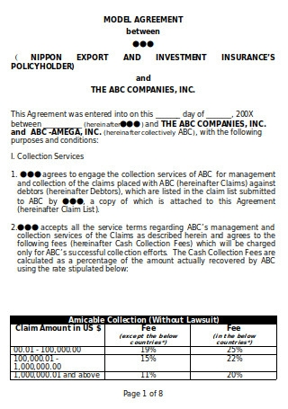 Collection Service Agreement