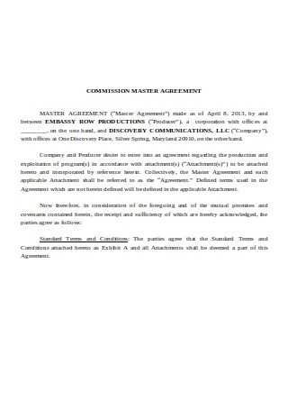 Commission Master Agreement