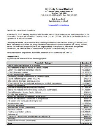 Community Bond Recommendation Letter