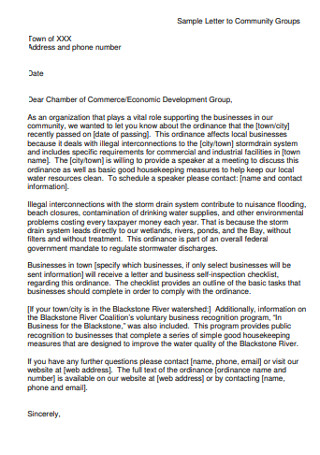 Community Group of Recommendation Letter