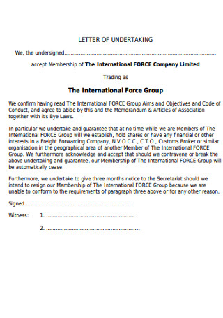 Company Group of Recommendation Letter