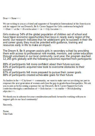 Conference Sponsorship Letter