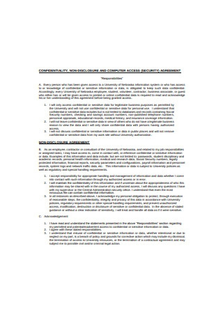 Confidentiality and Information Security Agreement