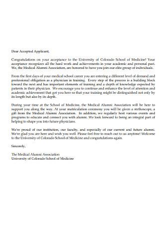 Congratulation for Hard Work Achivement Letter