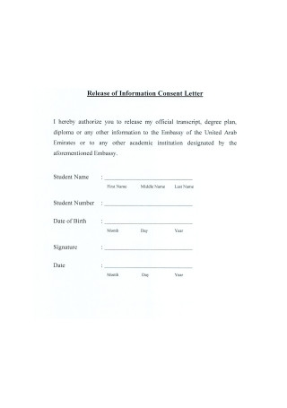 Consent Letter for Students