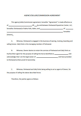Consignment Commission Agreement