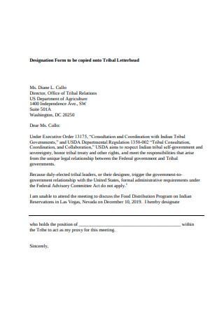 Consultation Proxy Letter