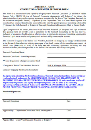 Consulting Approval Agreement Form
