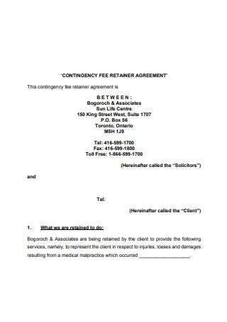 Contingency Fee Retainer Agreement