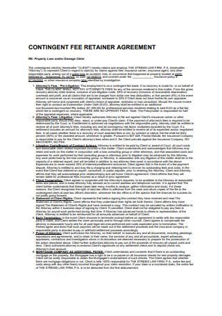 Contingent Fee Retainer Agreement