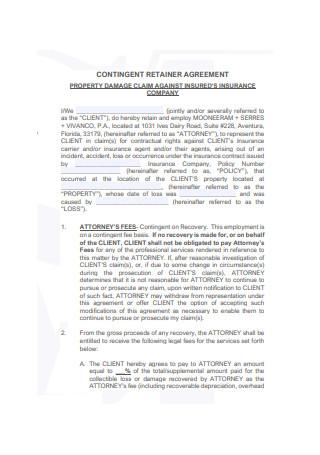Contingent Retainer Agreement Sample