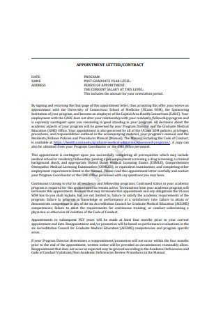 Contract Appointment Letter