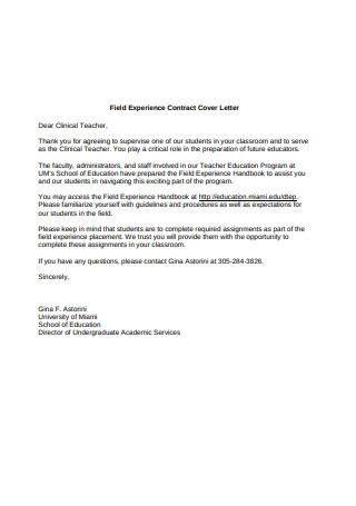 Contract Cover Letter