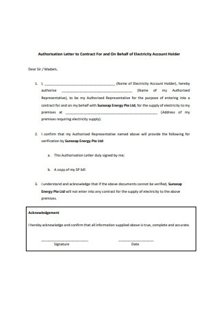 Contract Letter Format