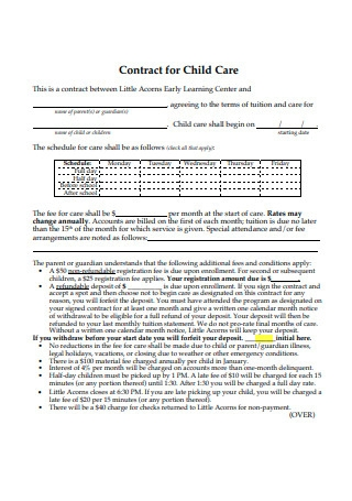 Contract for Child Care