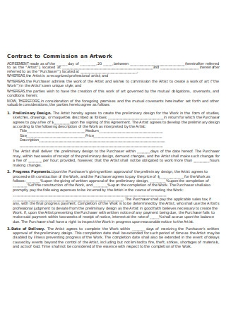 Contract to Commission Artwork
