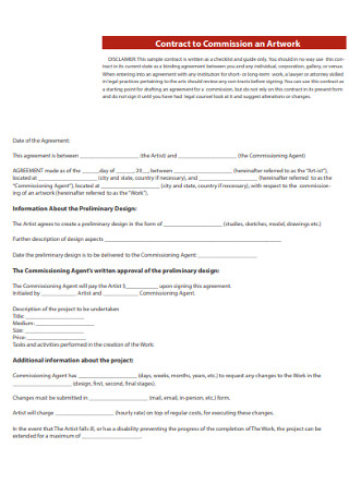 Contract to Commission an Artwork