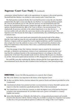 Court Case Study