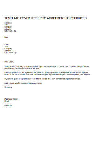 Cover Letter of Service Agreement Template