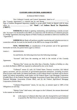 Custody and Control Agreement