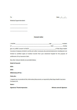 Customer Consent Letter