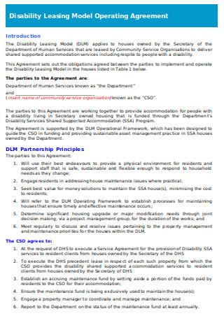 DLM Operating Agreement