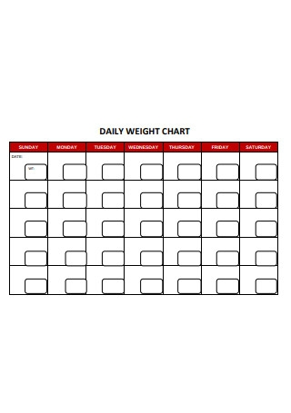 Daily Weight Chart