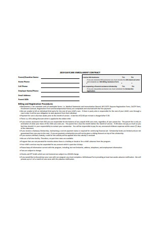 Daycare Enrollment Contract1