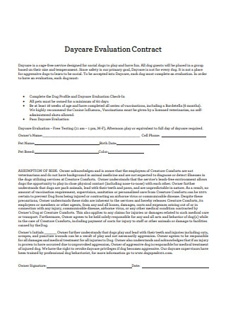 Daycare Evaluation Contract