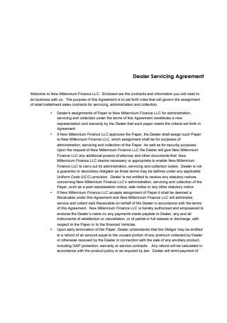 Dealer Service Agreement