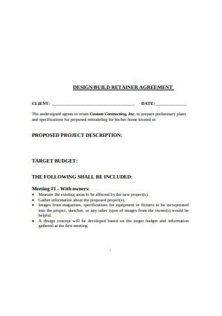 Design Retainer Agreement