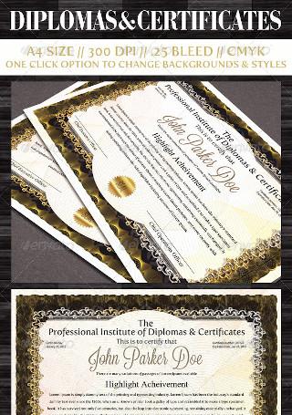 Diplomas Certificate