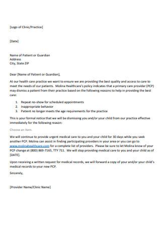 Dismissal Letter Draft