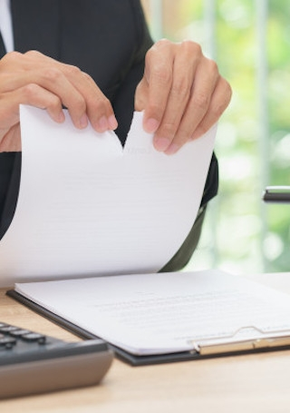 dismissal letter image