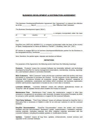 Distribution Agreement Example