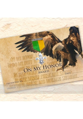 Eagle Scout Honor Award certificate