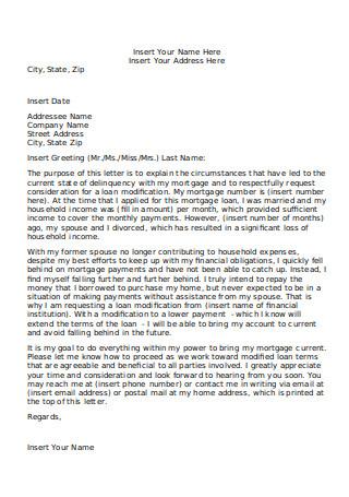 Editable Hardship Letter