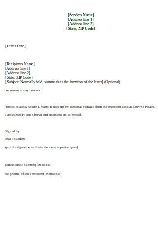 Editable Proxy Letter