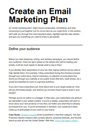 Email Marketing Field Guide Sample