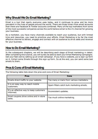 Email Marketing Tutorial Sample