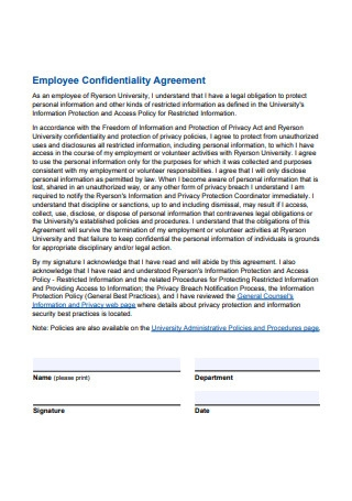 Employee Confidentiality Agreement1