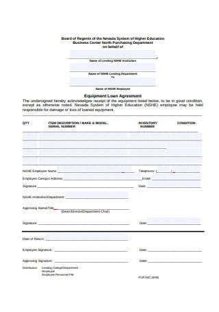 Employee Equipment Loan Agreement Format