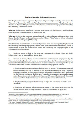 Employee Invention Assignment Agreement