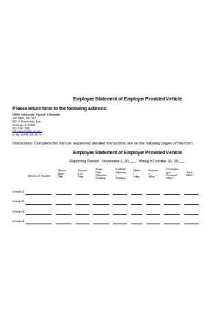 Employee Payroll Statement Sample