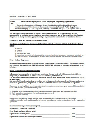 Employee Reporting Agreement