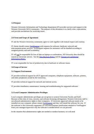 Employee Service Level Agreement
