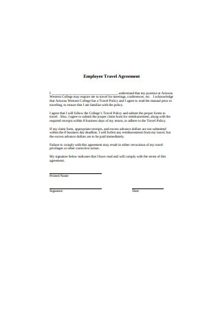 Employee Travel Agreement