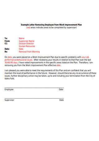 Employee Work Letter