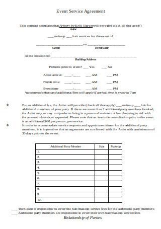 Event Service Agreement
